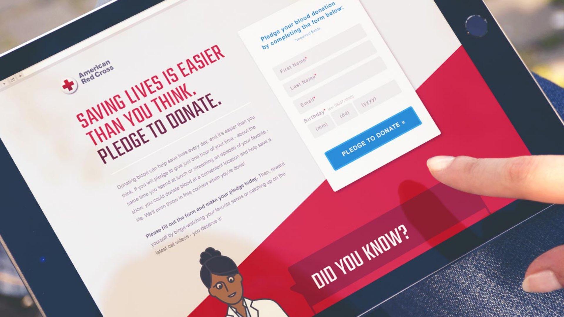 American Red Cross Banner Website Screen
