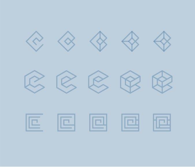 Esku logo sketches