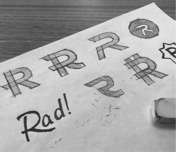 Radpay logo sketches