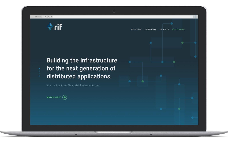 RIF website on laptop