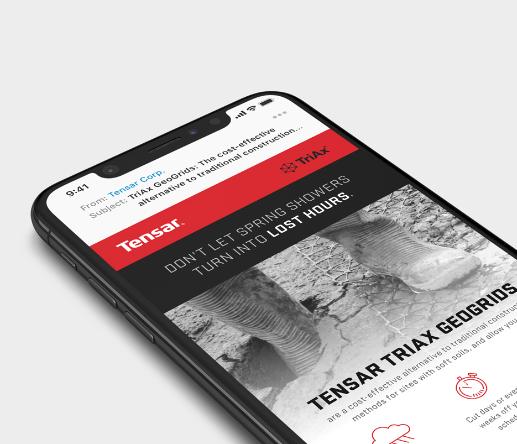 Tensar site on iphone