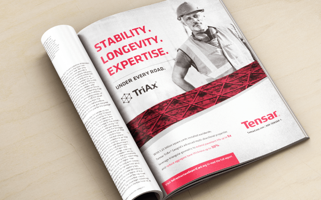 Tensar magazine ad